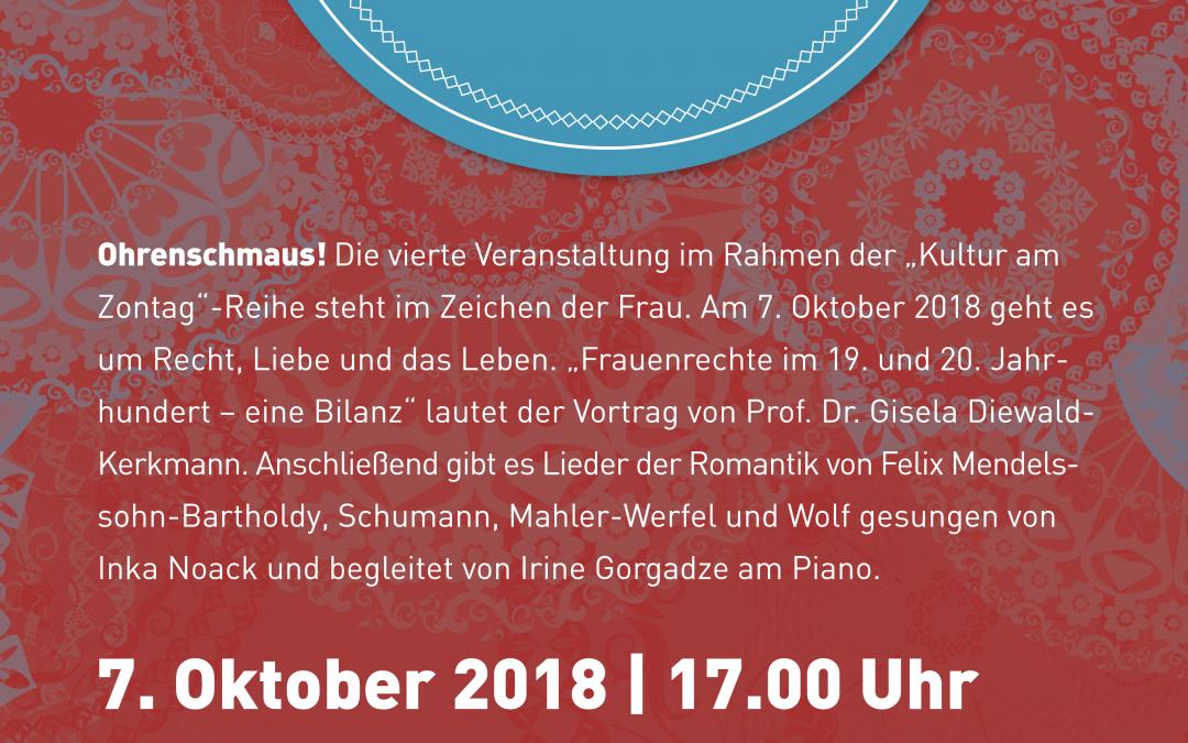 7. Oktober 2018 | 17:00 Uhr – Kultur am Zontag